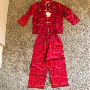 NWT Leier 100% Silk Kids outfit